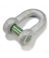Manilles Green Pin droites / axe vissé à trou carré
