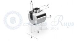 Serre-câble cylindrique / pour profil rond