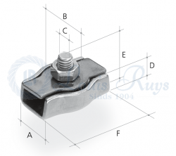 Serre-câble simplex