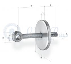 Vis à anneau avec disque de protection