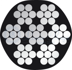 PVC 7x7 inox